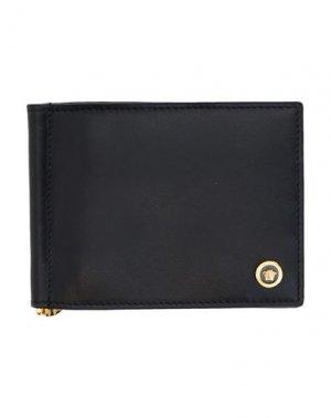 Бумажник VERSACE. Цвет: черный