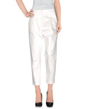 Повседневные брюки ANIYE BY. Цвет: белый