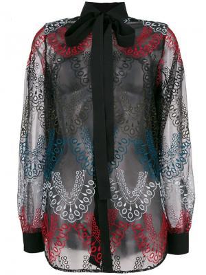 Рубашка с вышивкой Elie Saab