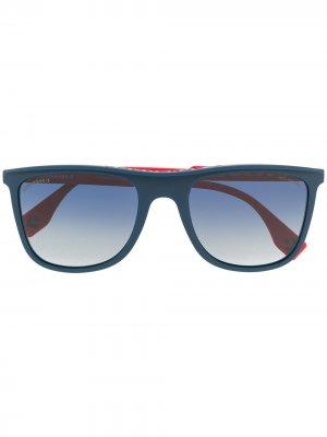 Солнцезащитные очки в квадратной оправе Converse. Цвет: синий