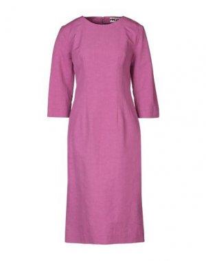 Платье до колена HACHE. Цвет: розовато-лиловый