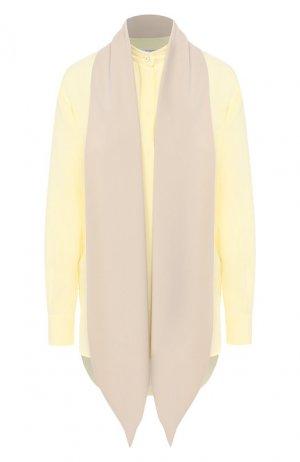 Шелковая блузка Givenchy. Цвет: желтый