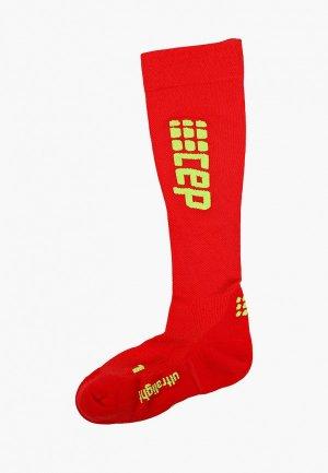 Компрессионные гольфы CEP Compression knee socks. Цвет: красный