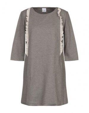 Короткое платье PF PAOLA FRANI. Цвет: серый
