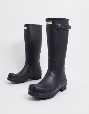 Черные резиновые сапоги original tall-Черный цвет Hunter