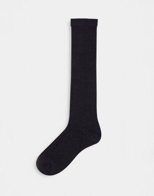 Черные ажурные гольфы -Черный цвет ASOS DESIGN