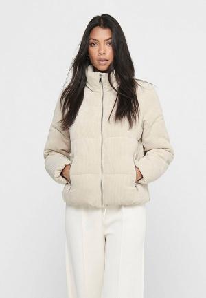 Куртка утепленная Jacqueline de Yong. Цвет: бежевый