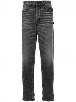 Зауженные джинсы с эффектом потертости MARCELO BURLON COUNTY OF MILAN. Цвет: синий