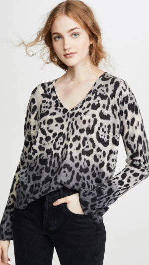 Lauren Leopard Cashmere Sweater 360