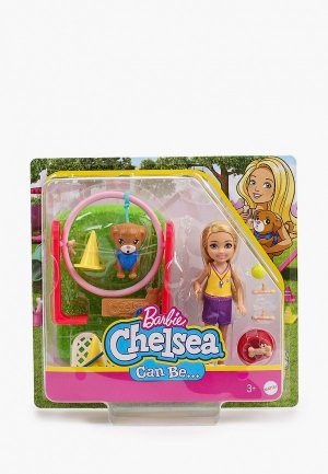 Кукла Barbie Челси Дрессировщик собак с питомцем. Цвет: разноцветный