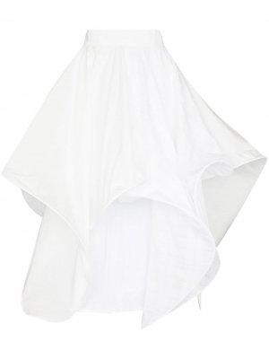 Расклешенная фактурная юбка миди LOEWE. Цвет: белый