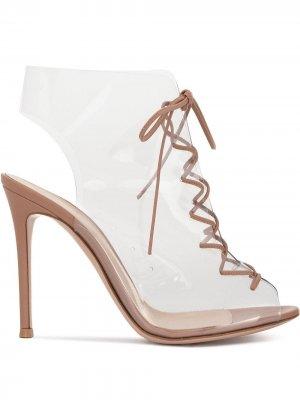 Босоножки на шнуровке Gianvito Rossi. Цвет: нейтральные цвета
