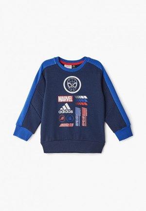 Свитшот adidas LB DY SM CREW. Цвет: синий