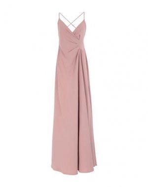 Длинное платье MANGANO. Цвет: телесный