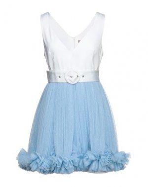Короткое платье BABYLON. Цвет: небесно-голубой