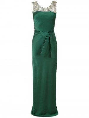 Длинное платье со вставками Gloria Coelho. Цвет: зеленый