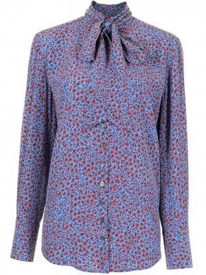 Блузка Olexa с цветочным принтом Equipment. Цвет: синий