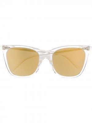 Затемненные солнцезащитные очки в квадратной оправе Celine Eyewear. Цвет: нейтральные цвета