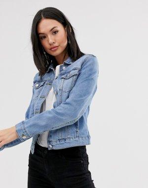 Голубая джинсовая куртка -Бежевый Pimkie