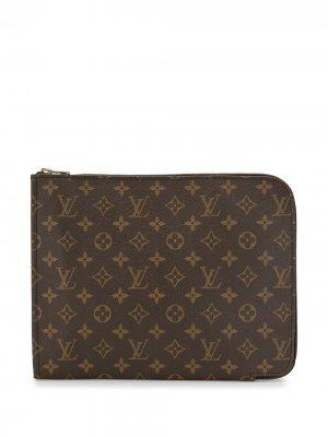 Папка 1980-1990-х годов с монограммой Louis Vuitton. Цвет: коричневый