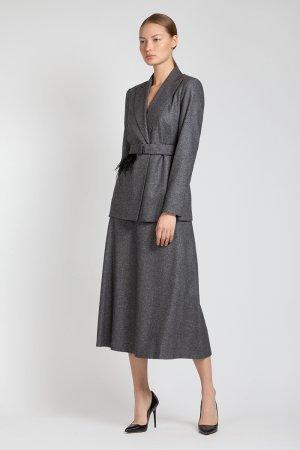 Серебристо-серая юбка миди VASSA&Co. Цвет: серый