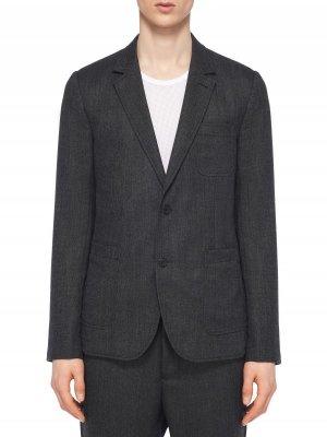 Костюмный пиджак AMI. Цвет: серый