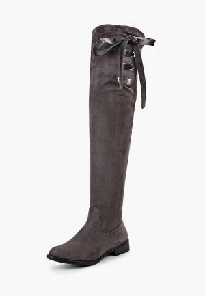 Ботфорты Ideal Shoes. Цвет: серый