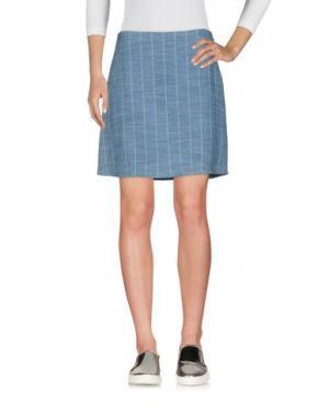 Джинсовая юбка FAIRLY. Цвет: синий