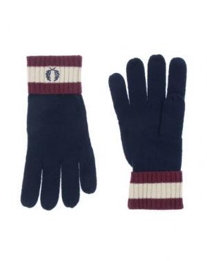 Перчатки FRED PERRY. Цвет: темно-синий
