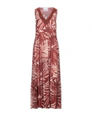 Длинное платье BRAND UNIQUE. Цвет: красно-коричневый