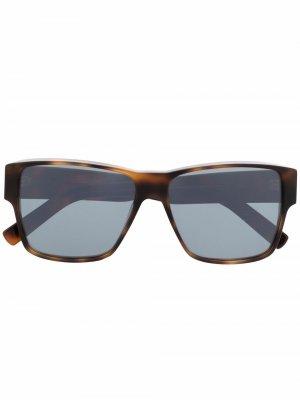 Солнцезащитные очки Linan в квадратной оправе Christian Roth. Цвет: коричневый