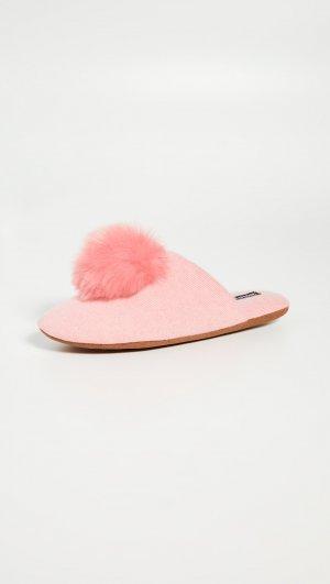 Cashmere Pom Slippers Minnie Rose