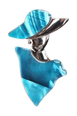 Брошь-кулон FRANSUA ARDY. Цвет: голубой