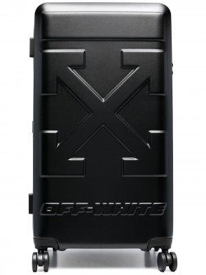 Чемодан с логотипом Arrows Off-White. Цвет: черный