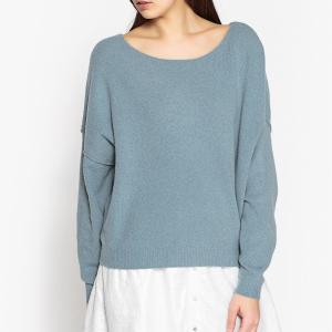 Пуловер с вырезом-лодочкой из тонкого трикотажа DAMSVILLE AMERICAN VINTAGE. Цвет: синий,экрю