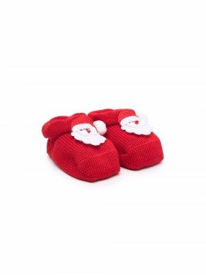 Пинетки Santa с нашивкой Story Loris. Цвет: красный