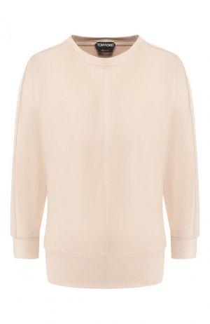 Шелковый пуловер Tom Ford. Цвет: бежевый
