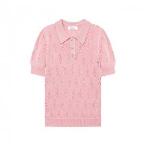 Хлопковый пуловер Paade Mode. Цвет: розовый