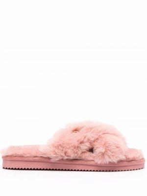 Lala faux-fur slippers Michael Kors. Цвет: розовый