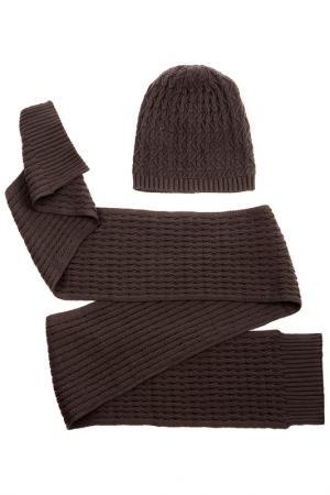 Комплект: шапка, шарф Moltini. Цвет: серый