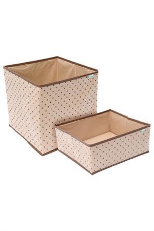 Комплект из 2-х коробок HOMSU. Цвет: бежевый