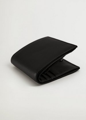 Кошелек под сафьян - Wallet1 Mango. Цвет: черный