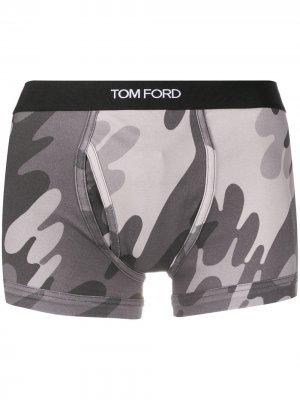 Боксеры с логотипом Tom Ford. Цвет: серый