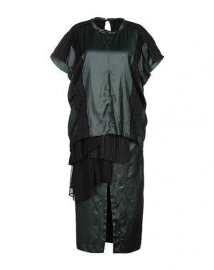 Платье длиной 3/4 CARVEN. Цвет: темно-зеленый
