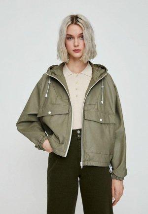 Куртка Pull&Bear. Цвет: хаки