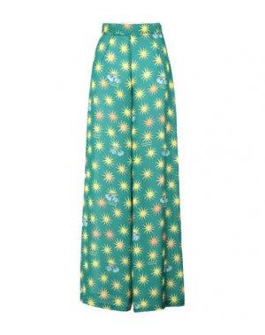 Повседневные брюки GIULIA ROSITANI. Цвет: зеленый