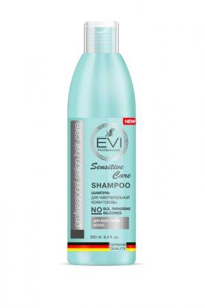 Шампунь «Сенситив», 250 мл EVI professional. Цвет: белый