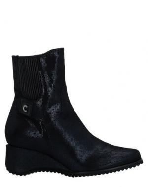 Полусапоги и высокие ботинки CONNI. Цвет: темно-синий