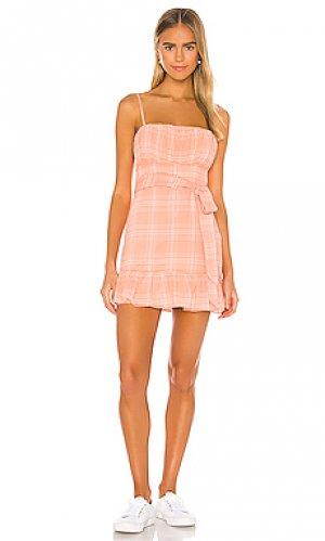 Платье isaiah Privacy Please. Цвет: коралл