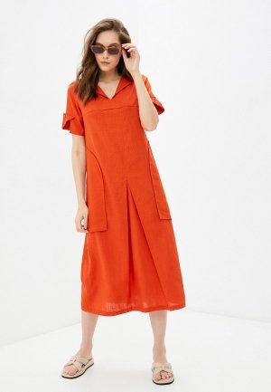Платье Dimma. Цвет: оранжевый